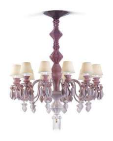 Lladro 1023269 Chandelier CHAND12L PINK US 1023269