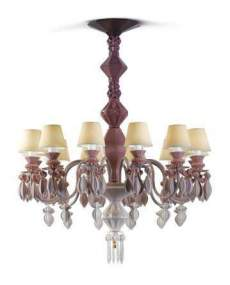 Lladro 1023270 Chandelier CHAND12L PINK JAPAN 1023270
