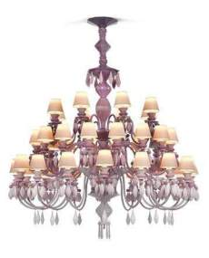 Lladro Chandelier Belle de nuit CHAND40L PINK CE_UK 1023271