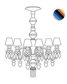 Lladro Chandelier Belle de nuit CHAND12L MULTIC US 1023290