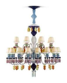 Lladro Chandelier Belle de nuit CHAND24L MULTIC US 1023295