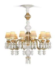 Lladro Chandelier Belle de nuit CHAND12L GOLD JAPAN 1023310