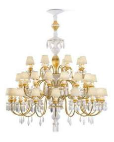 Lladro Chandelier Belle de nuit CHAND40L GOLD CE_UK 1023311